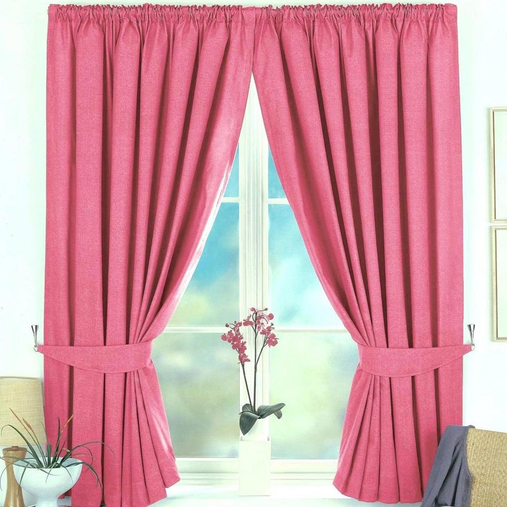 Rèm cửa phòng ngủ màu hồng