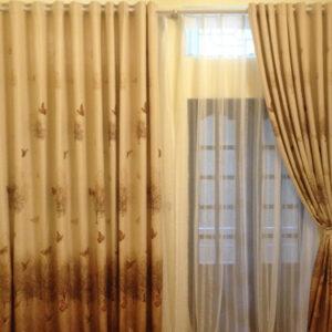 Rèm cửa vải hoa văn cao cấp