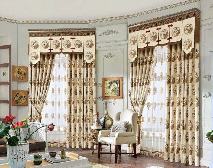 Mẫu rèm cửa sang trọng lắp đặt cho phòng khách