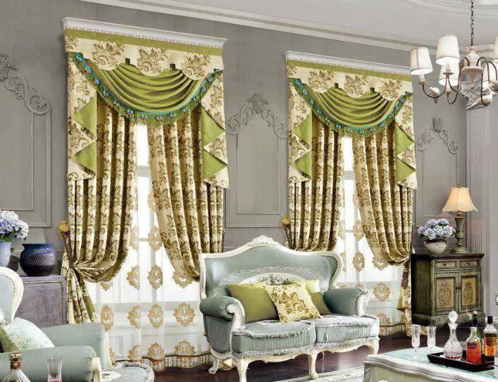 Bộ rèm cửa theo phong cách hoàng gia
