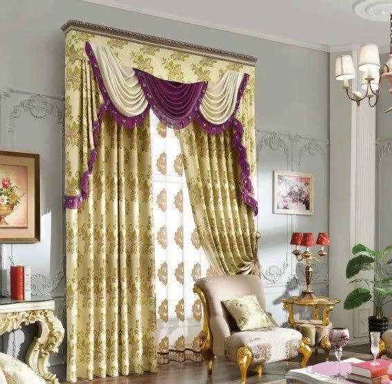 Rèm cửa vải sang trọng cho phòng khách