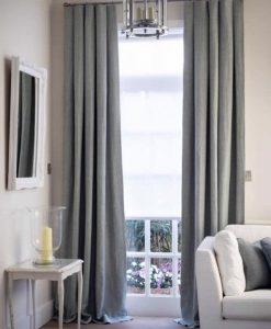 Rèm cửa vải màu ghi đẹp