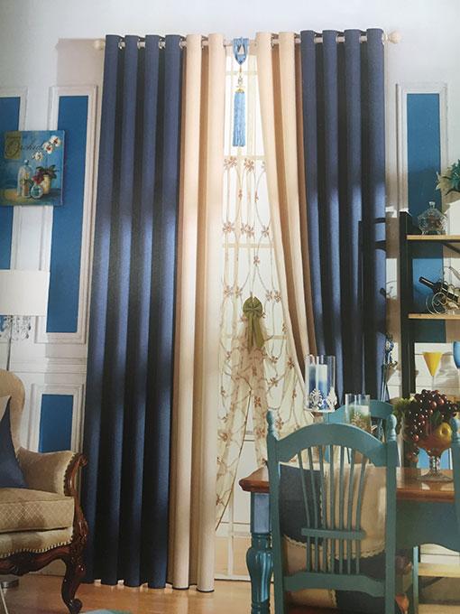 Rèm vải can pha đẹp cho phòng khách