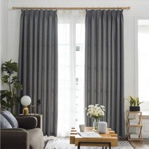 Rèm vải cản sáng cao cấp cho phòng khách