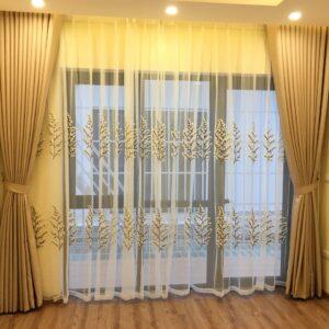 Rèm cửa vải một màu cao cấp