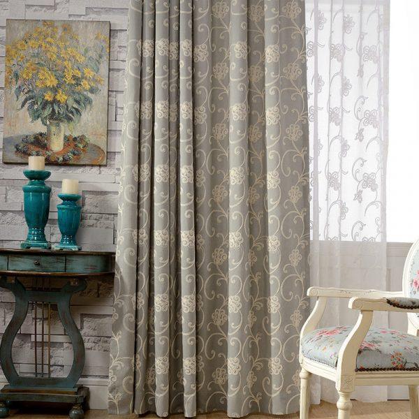 Rèm vải họa tiết tân cổ điển