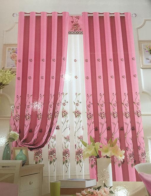 Rèm vải thêu hoa văn cao cấp