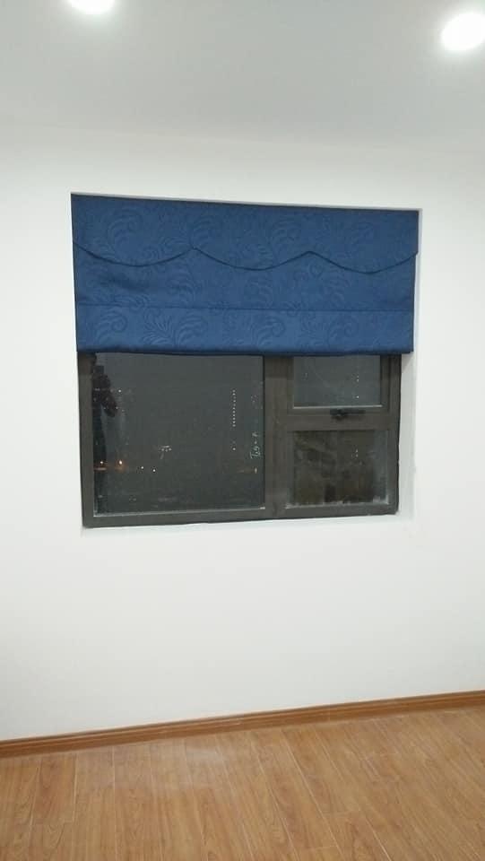 Rèm roman màu xanh coban RM 57